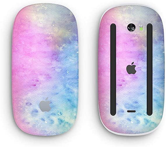 Design Skinz Premium Vinyl Decal for The Apple Magic Mouse 2 Wireless, Rechargable with Multi-Touch Surface Mint Absorbed Watercolor Texture