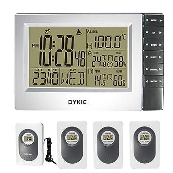 AFGD Termómetro Digital Termómetro Digital Inalámbrico para Interior Y Exterior, Higrómetro.
