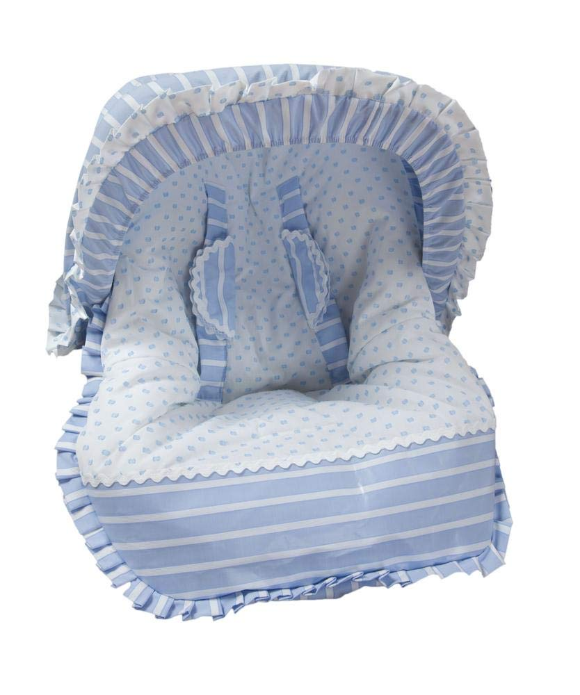 color azul Babyline Oporto Colchoneta para silla grupo 0