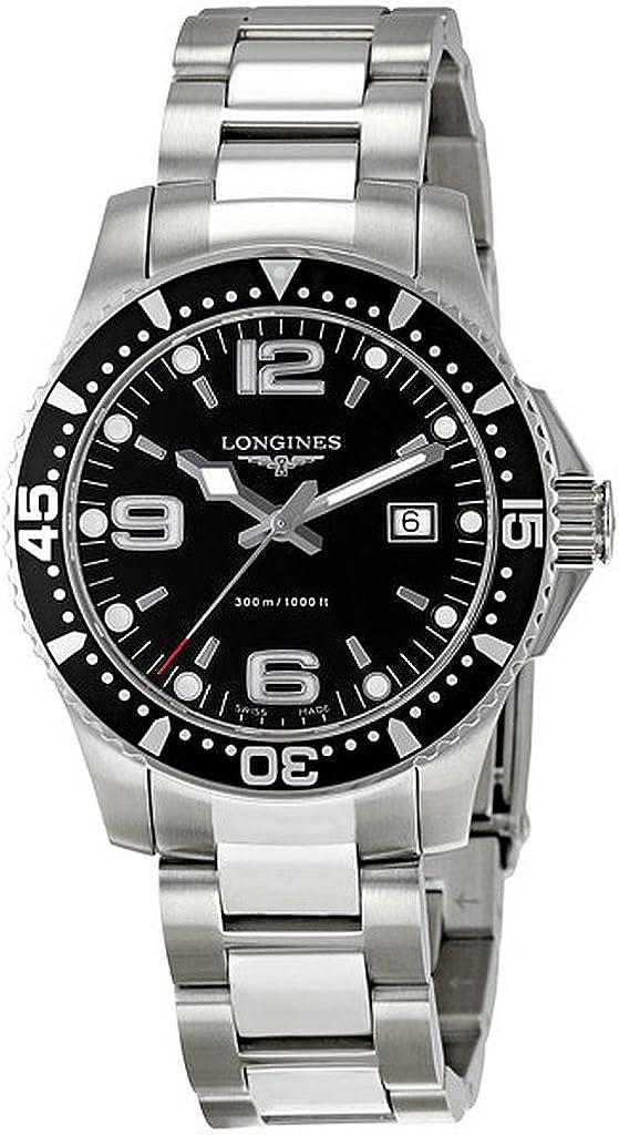Longines L36404566 - Reloj de Cuarzo para Hombre, con Correa de Acero Inoxidable, Color Plateado