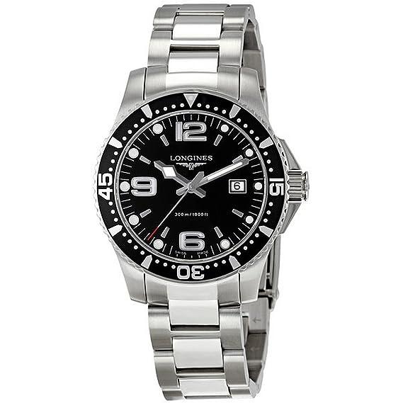 Longines L36404566 - Reloj de cuarzo para hombre, con correa de acero inoxidable, color plateado: Amazon.es: Relojes