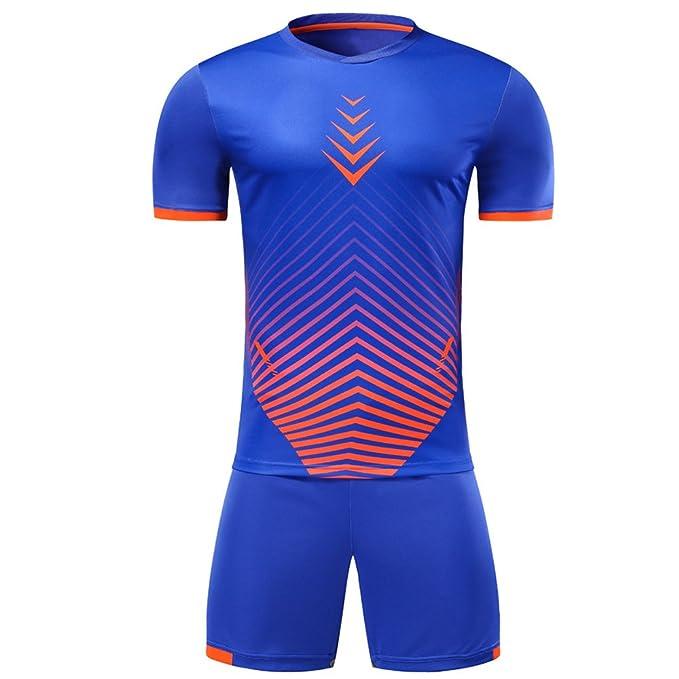 KINDOYO Ropa deportiva de entrenamiento de fútbol para hombres y niños, Camiseta de fútbol de
