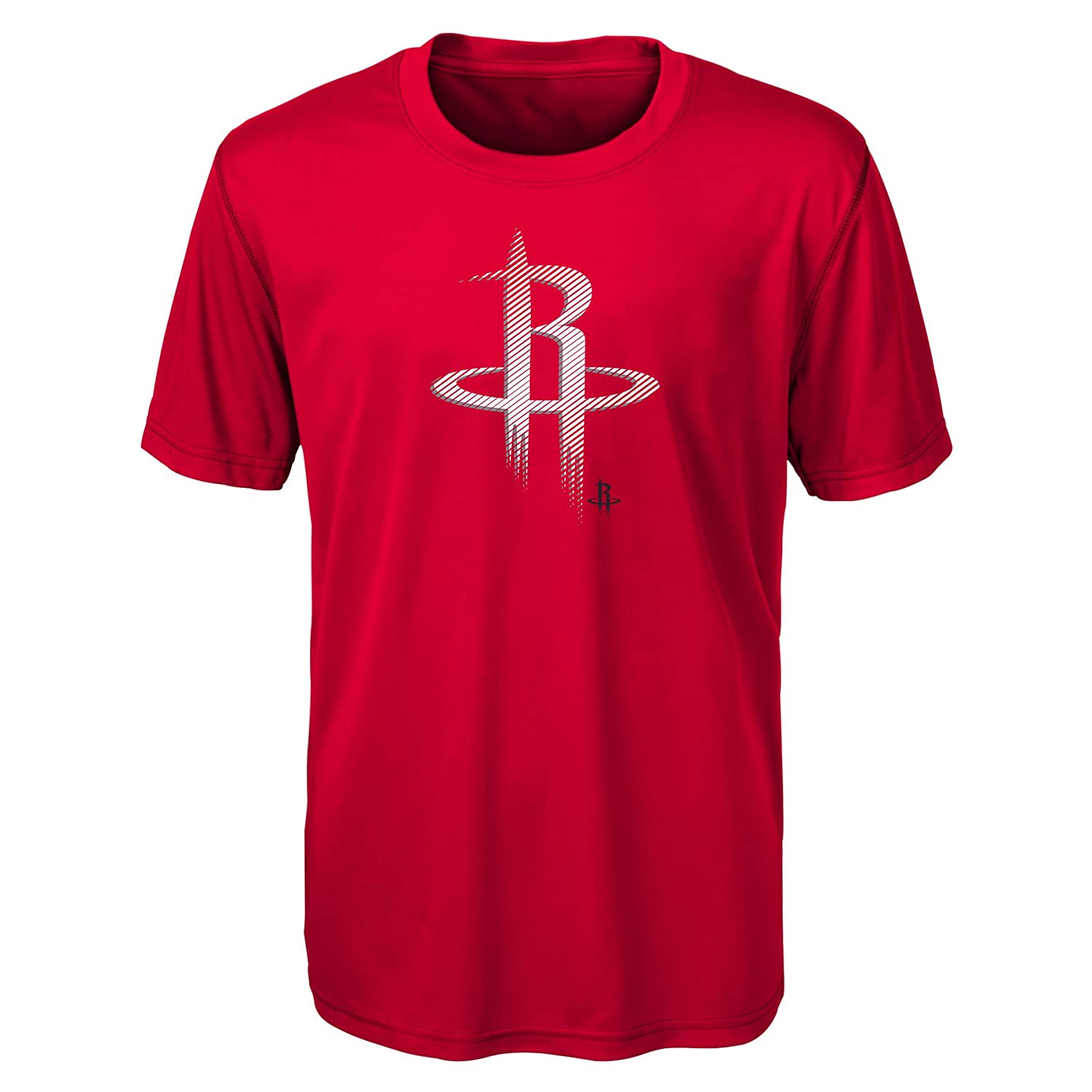 NBA Houston Rockets Kids /& Youth Boys Motion Offense Short Sleeve Performance Tee Red 7 Large