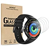 AKWOX [4 Pack] Ticwatch S & E Tempered Glass Screen Protector, [0.3mm 2.5D High Definition 9H] Screen Protector for Ticwatch S (Sport) / Ticwatch E (Express)