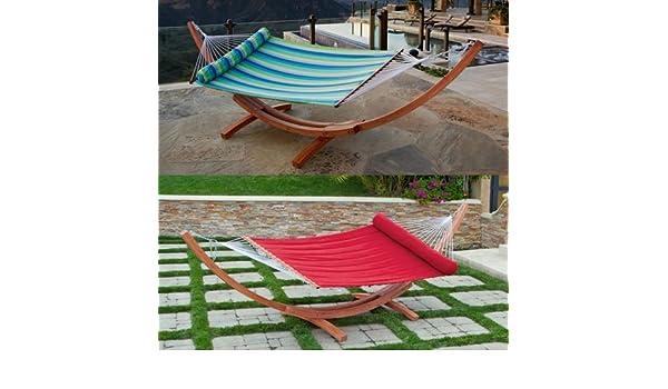 amazon    big daddy deluxe sunbrella arc wood hammock  sports  u0026 outdoors amazon    big daddy deluxe sunbrella arc wood hammock  sports      rh   amazon