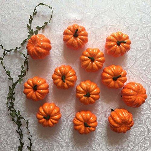 Missley Halloween Pumpkin 16 Pcs Artificial Pumpkin Mini Pumpkins Decoration For Halloween/Christmas/Wedding/Home Decoration by Missley (Image #2)
