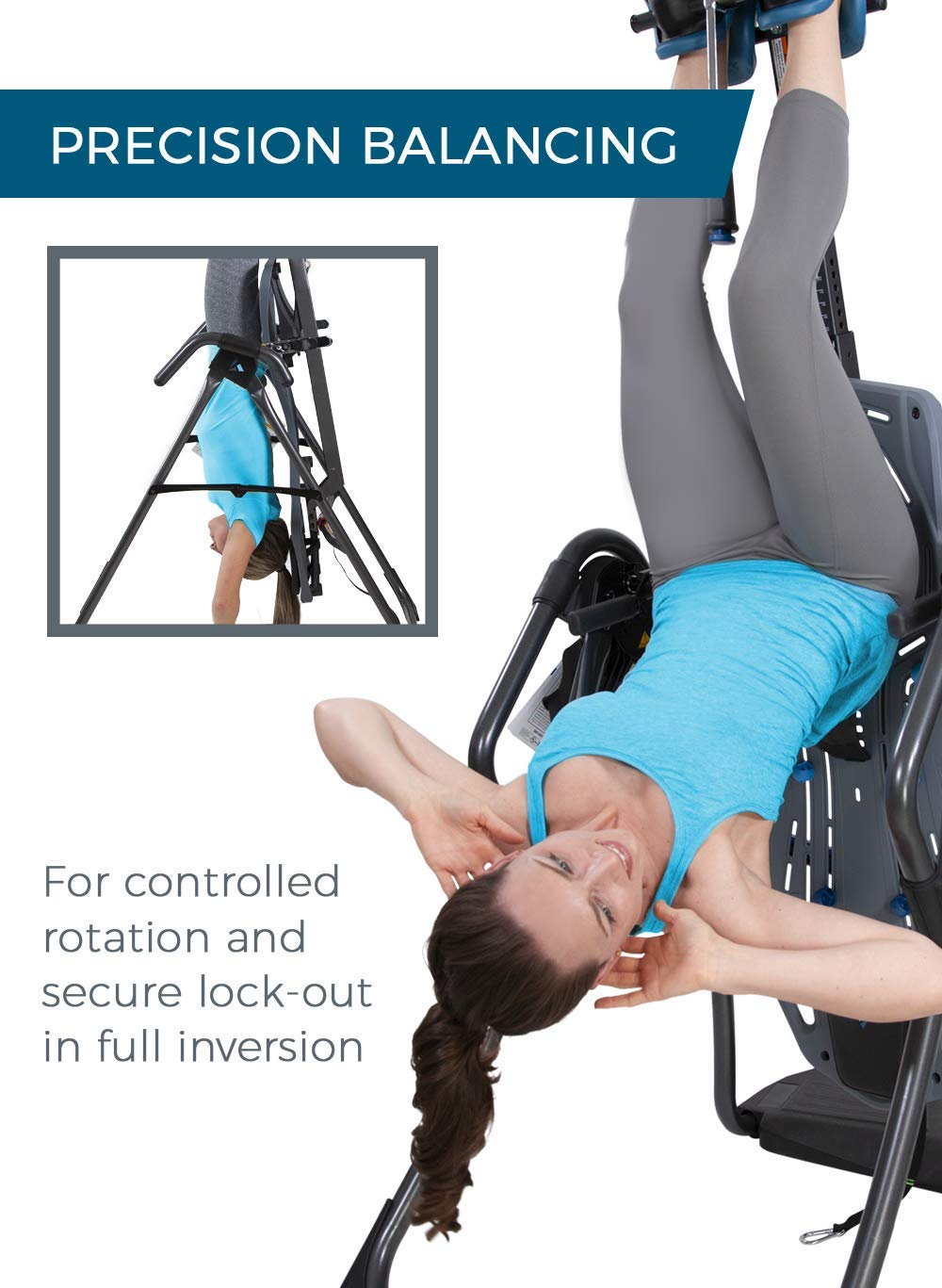 Back Pain Relief Kit Teeter FitSpine LX9 Inversion Table Deluxe Easy-to-Reach Ankle Lock 2019 Model FDA-Registered