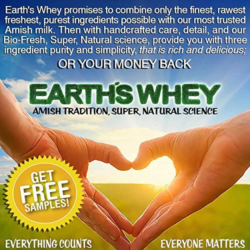 Amish Earth's Whey Protein & FREE SAMPLES Grass Fed, Cold Processed, Raw, SUGAR FREE, GMO & Gluten Free, DELICIOUS or $  BACK! as low as .99 a bag! FREE S&H (Holland Chocolate , 3lb)