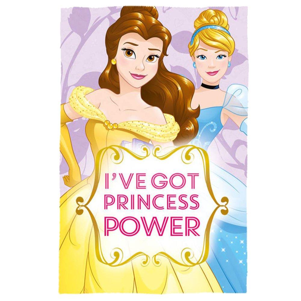 Disney WD19168 Princess-Belle & Cinderella 150cm x 100cm Polar Fleece Blanket