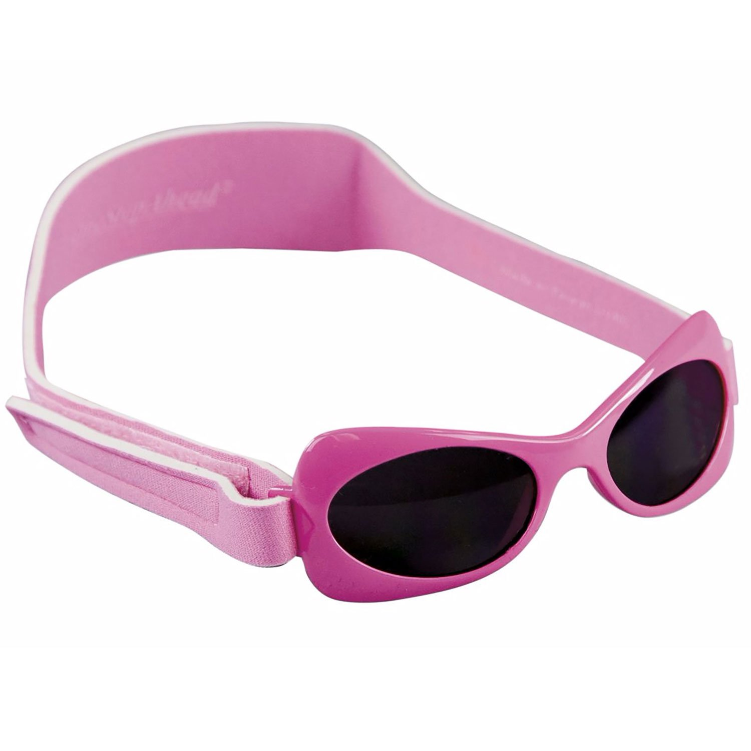 Pink Wrap Sunglasses for Toddler Girls Ages 2-5 Years by Sun Smarties by One Step Ahead