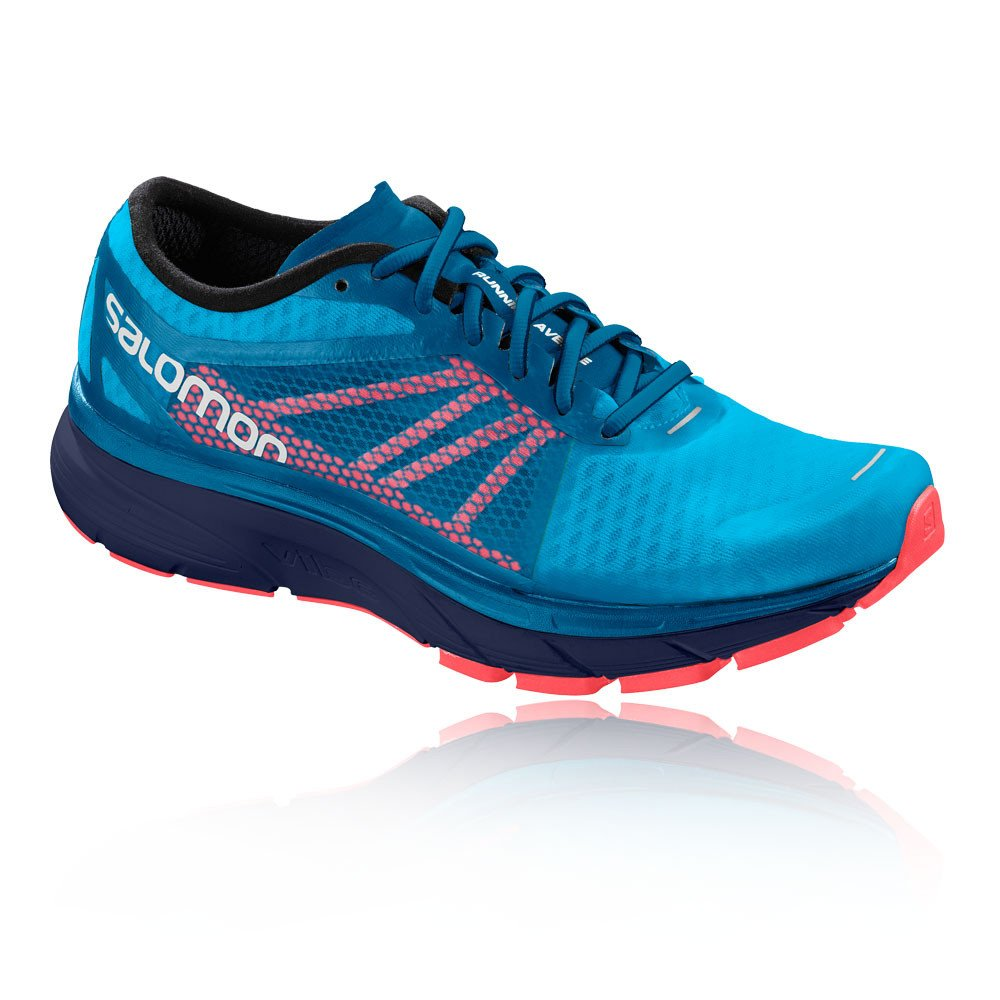 Salomon Sonic Ra, Zapatillas de Trail Running para Hombre 47 1/3 EU|Multicolor (Hawaiian Surf/Medieval Blue/Fiery C 000)