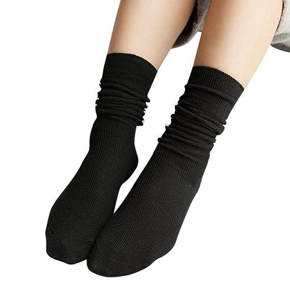 2019 Descuento Calcetines Compresión Hombre Calcetines De Punto Suaves De Algodón Para Mujer De Moda Para Mujer Calcetines De Punto Medio De Algodón: ...