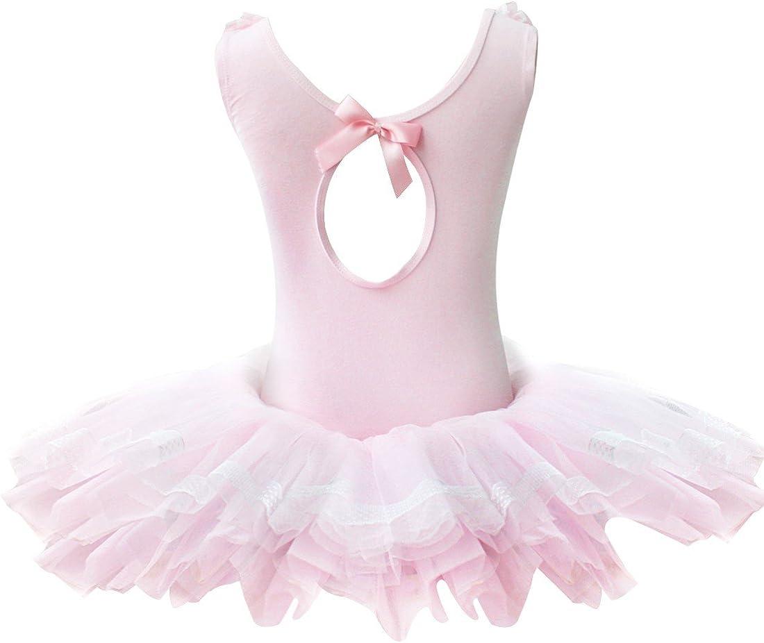 vestido de gimnasia inlzdz princesa de hada leotardo falda Vestido de baile de ballet con volantes para ni/ña