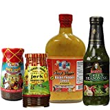 Caribbean-Jerk-Seasoning-and-Hot-Pepper-Sauce-Variety-4-Piece-Combo-from-Walkerswood-Aunt-Mays-Baron-and-Carib