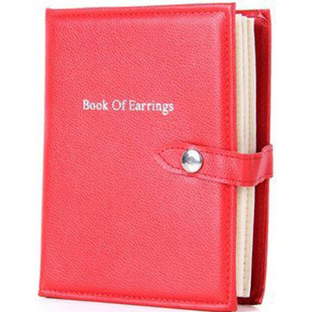 OLizee 48 Pairs Portable Earrings Book Jewelry Display Organizer Ear Studs Storage Book(Black) OL-EDS1-1