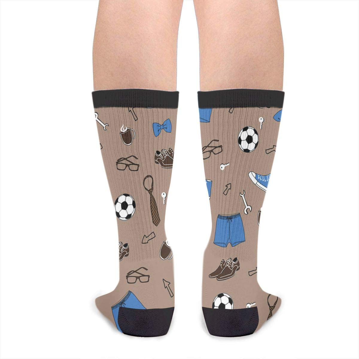 Fashion Travel Breathable Socks Brown Male Life Men /& Women Running Casual Socks