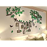 Spring Country 3D Tree Wall Stickers With Photo Frames | Acrylic Room Three-Dimensional Decal | Family Wall Decor Home Improvement Memory With Children | Nursery Room Wall Stickers | 60 Inch 34 Inch
