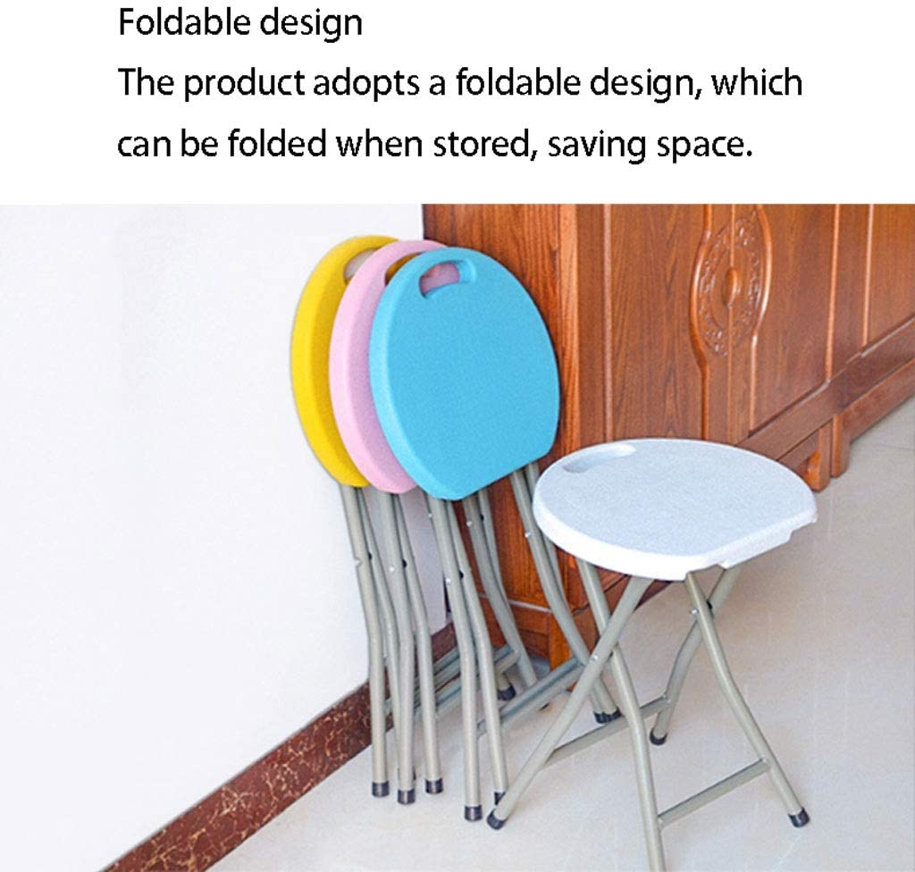 Chaise pliante Tabouret intérieur Mode créatif Pliant Tabouret Portable Outdoor Leisure Chaise épais Salle à Manger en Plastique Table Banc (Color : N) E