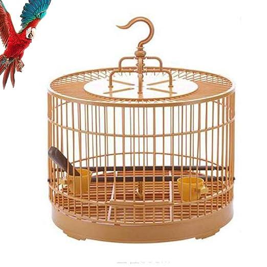 Comedero Para Pájaros, Jaula Redonda De Plástico Para Pájaros Con ...