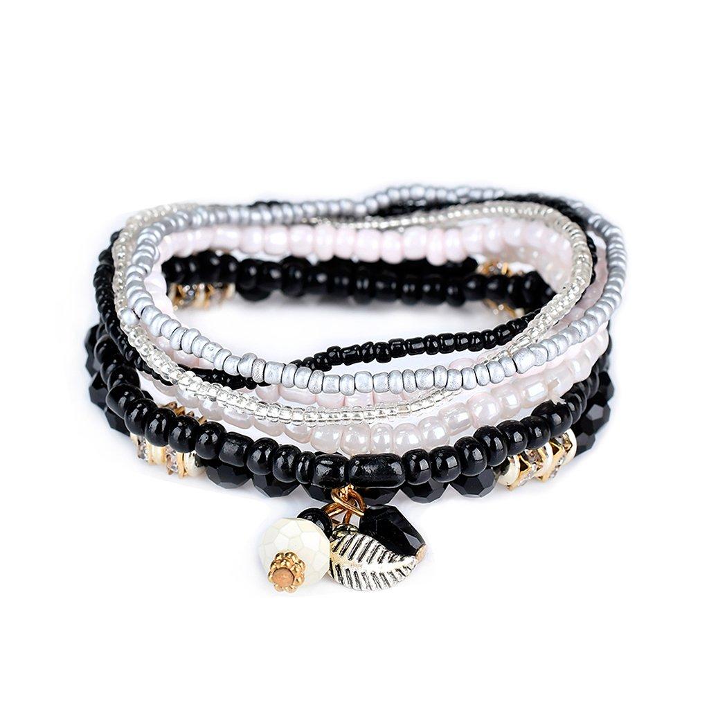 Lunji Bracelet Fantaisie Femme Rétro - Bracelet Bohème Chic Acrylique et Alliage