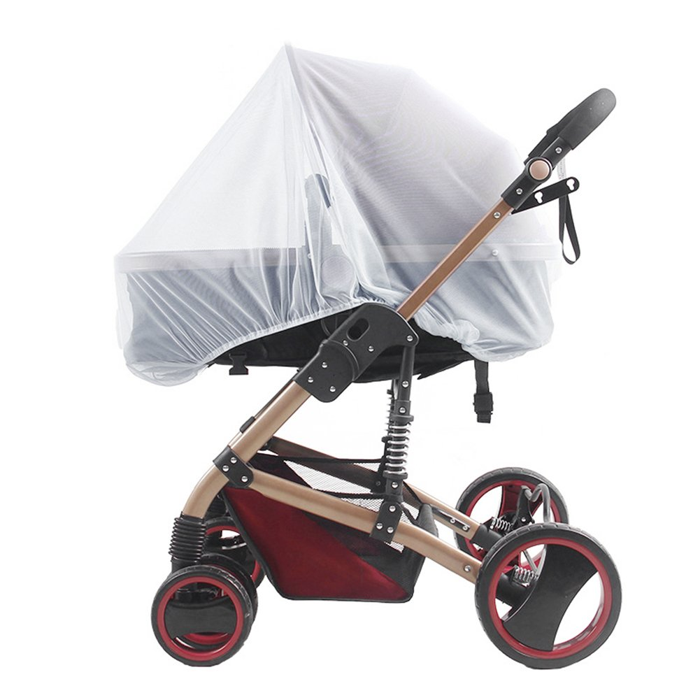 WskLinft Universal Infants Baby Stroller Pushchair Cart Mosquito Insect Net Safe Mesh - White