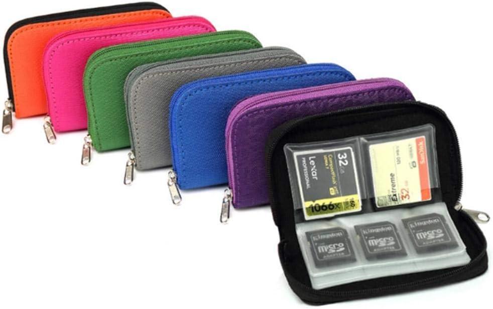 Kloius Estuche para Tarjetas de Memoria SD Almacenamiento de Tarjeta de Memoria Portatarjetas CF/SD/SDHC/MS/DS, 22 Ranuras: Amazon.es: Electrónica