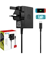 Switch Charger for Nintendo Switch and Lite Charger, AC Adapter for Nintendo Switch/Lite Fast Charger Power Adapter with 5FT Charger Cord for Nintendo Switch and Lite Supports TV Mode