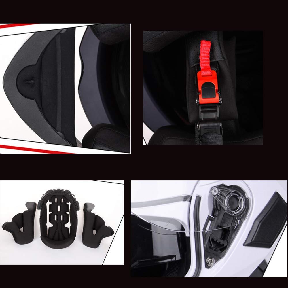 M, L, XL, XXL HXZM Cara Completa de la Motocicleta accidente Casco Dot /& ECE 22,05 Hormiga roja est/ándar ,Redant,M55~57cm