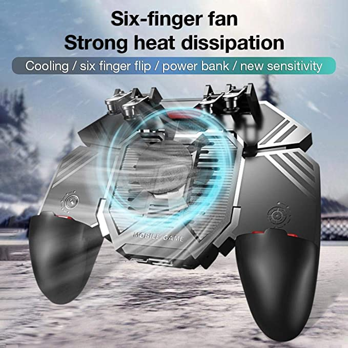 Amazon.com: CHERRYSONG AK77 MEMO Mobile Game Controller Gamepad,Radiator Water-Cooled Fan Six Fingers PUGB Handle Power Bank for Android iOS, PUBG, Rules of Survival, Knives Out, Survivor Royale, Critical Ops: Home & Kitchen