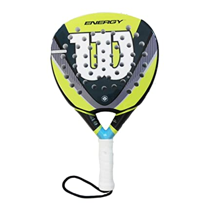 Amazon.com : Wilson Energy Tennis Bat - Yellow/Grey/White ...
