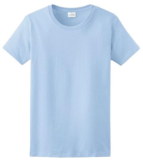 Amazon.com  Gildan Womens Ultra Cotton Light Blue T-Shirt Small ... e8d83e294dba