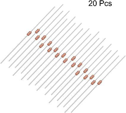 uxcell 50pcs 10K Ohm 0.05W 3435B NTC Thermistors Resistor MF52-103