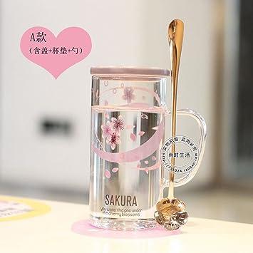 WU-Mug Flor de Cerezo japonés Cup Personalidad creadora de un Resistente al Calor de la ...