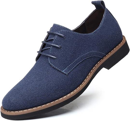 Zapatos Casuales con Cordones de Cuero de Gamuza clásico