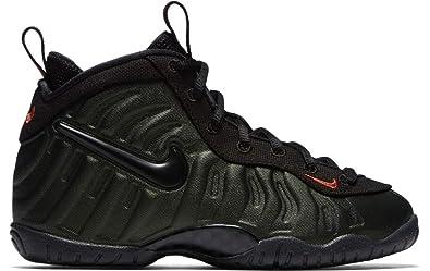 best sneakers 25a6e 337d7 Nike Preschool Foamposite Pro Sequoia Sequoia Black-Team Orange (1 M US  Little