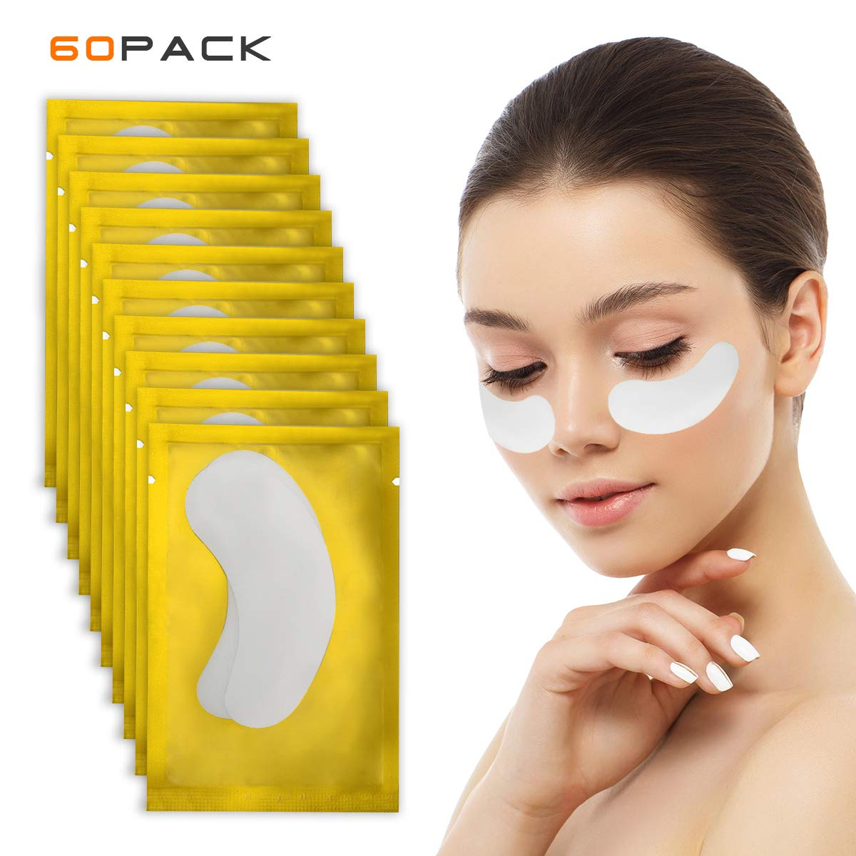 cde02fa0c81 Amazon.com: 60 Pairs Eye Pads for Lash Extensions, Lint Free Under Eye Gel  Patches, Eyelash Extensions Pads by Ahier: Beauty