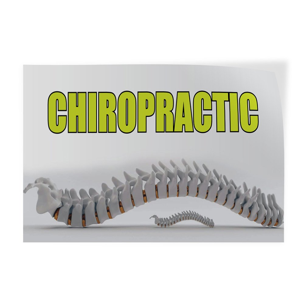 54inx36in Set of 2 Decal Sticker Multiple Sizes Chiropractic #1 Style A Health Care Chiropractic Outdoor Store Sign White