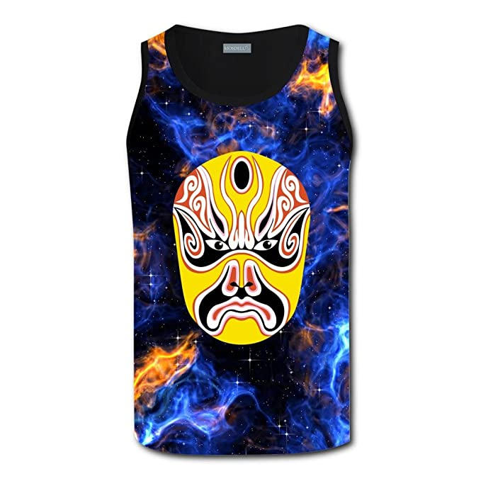 bf9ff970786f84 Mens Chinese Opera Face Element Casual Sport Vest at Amazon Men s Clothing  store