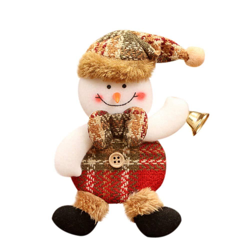 Fabal Christmas Decorations Xmas Ornaments Christmas Tree Doll Small Pendant Santa Claus Party Decor (B)