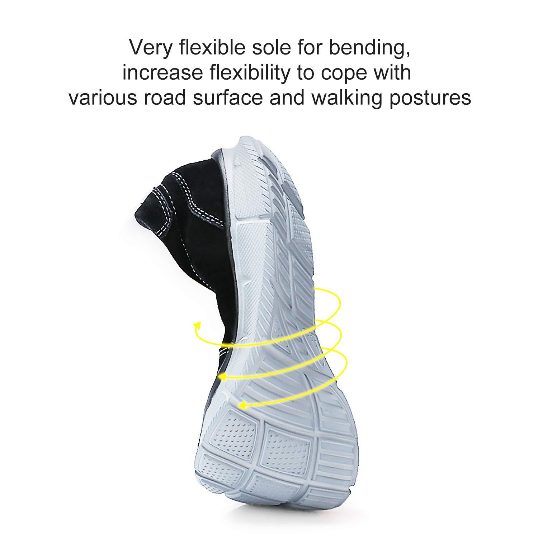 CAMEL CROWN Zapatillas sin Cordones para Hombre Antideslizante Ligeras Comodas Negro EU 42