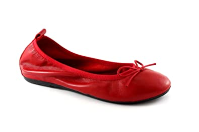 8a94596865 Pregunta PO2067 Red Shoes Women Dancers Stretch Leather 41: Amazon ...