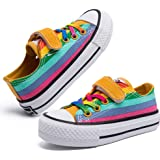 Toddler Little Kids Slip On Boys Girls Canvas Sneakers Rainbow Color Kids Shoes
