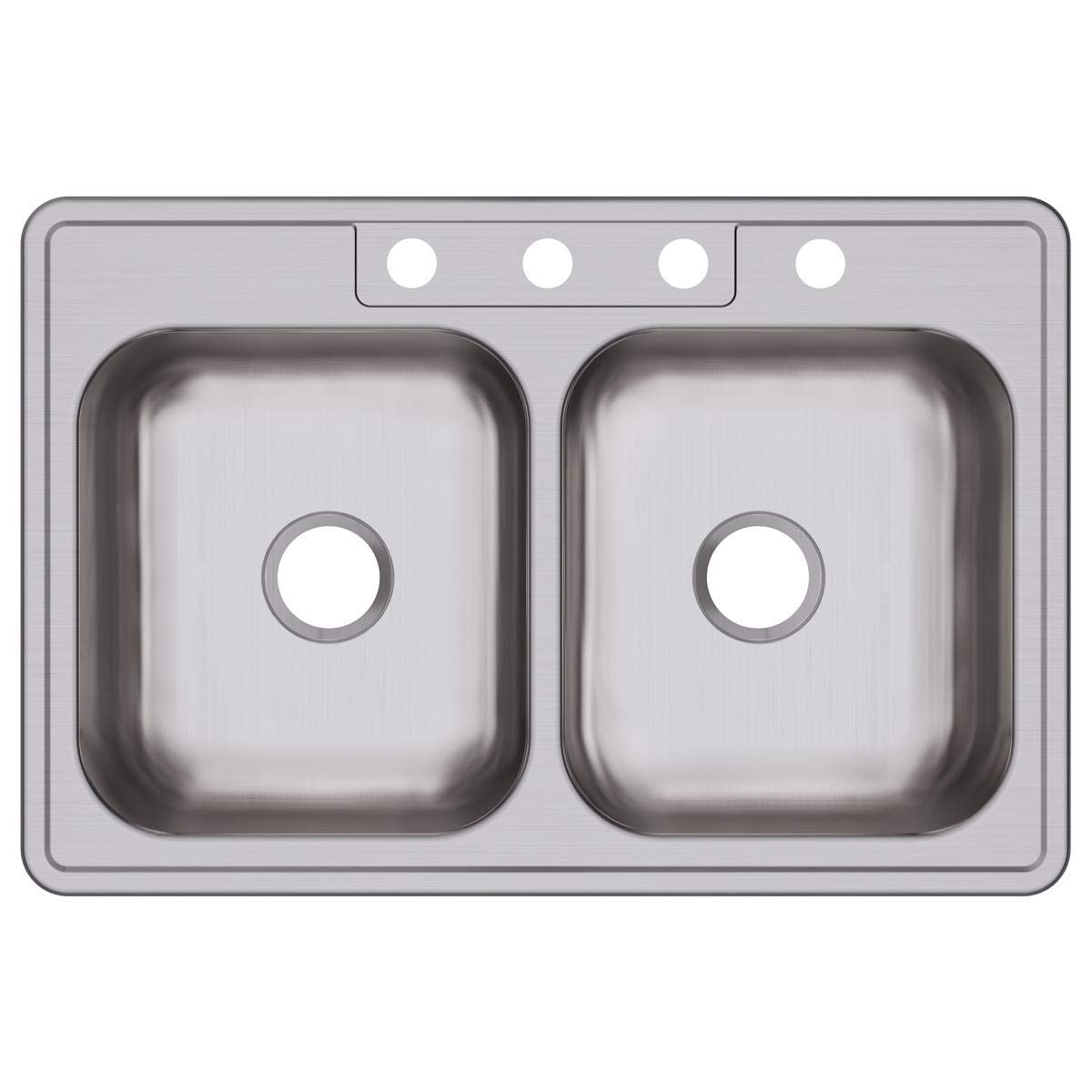 Elkay DXR33224 Dayton Equal Double Bowl Drop-in Stainless Steel Sink