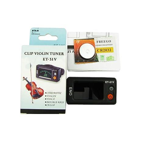 Eno marca Smart Clip de sintonizador violín sintonizador de instrumentos de cuerdas