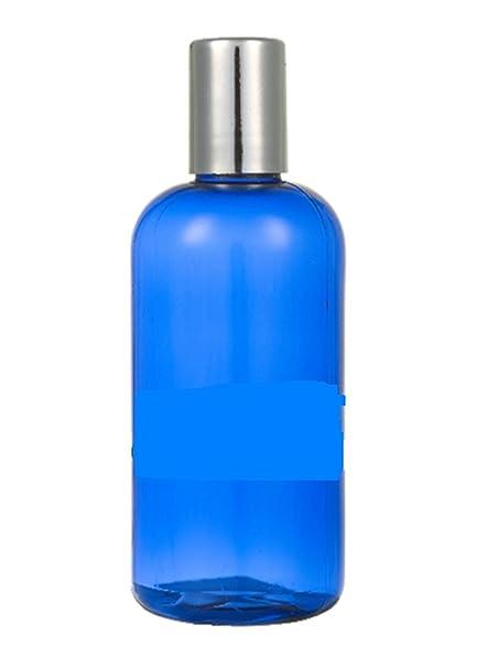 Botella de plástico azul con tapa de plata 100 ml, son ideales para Carrier aceites