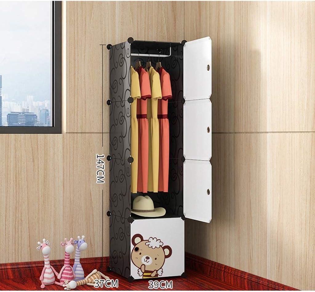 Garde-robe Armoire Simple Tissu Petit Lattice Assembl/ée Location /étudiant Chambre Simple Armoire Plastique Chambre Armoire de Rangement XINYALAMP