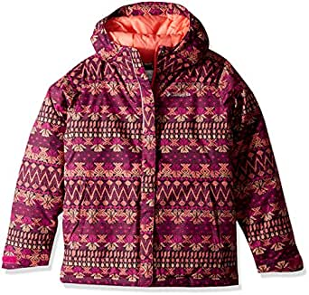 Columbia Big Girls' Horizon Ride Jacket, Deep Blush Nordic Stripe, Large