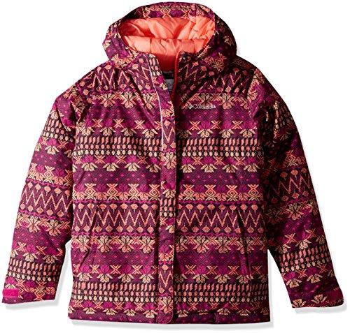 Columbia Girls' Big Horizon Ride Jacket, Deep Blush Nordic Stripe, X-Large (Girl Winter Columbia Coats)