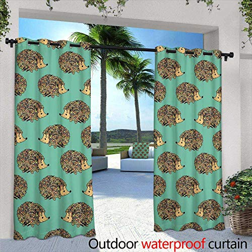 Outdoor- Free Standing Outdoor Privacy Curtain,Hatching Symbol for The Marathon Multicolored Set of Silhouettes of Runners Figure Runners,W96 x L108 for Patio Light Block Heat Out Water Proof Drap