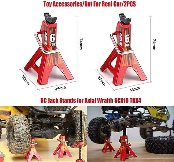 Rc Rock Crawler Accessories Slideable Aluminium Alloy Jack Tool For Axial Scx10